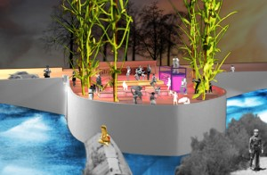 Kulturstrand an der Corneliusbrücke (Sebastian Hass/Andreas Müller 2007/2008)